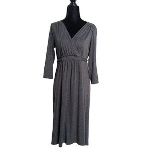 MOTHERHOOD Dark Gray Maternity Dress S